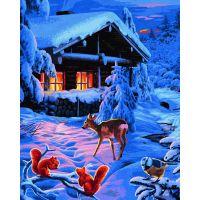 Schipper Premium Romantická zimní noc 40 x 50cm 2