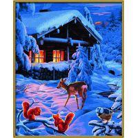 Schipper Premium Romantická zimní noc 40 x 50cm 3
