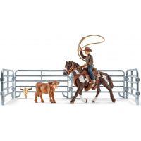 Schleich 41418 Kovboj s lasom na koni a príslušenstvo