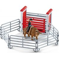 Schleich 41419 Kovboj na býkovi v ohrade