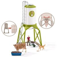 Schleich Feed Silo with Animals 3