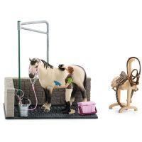 Schleich 42104 Umývacie kút pre kone s príslušenstvom