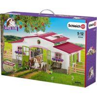 Schleich 42344 Stajňa s koňmi a príslušenstvom v pastelových farbách 5