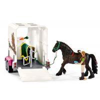 Schleich Pick up s prívesom a koňom - Poškozený obal 2