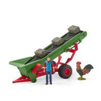 Schleich Poľnohospodársky dopravník na seno s farmárom