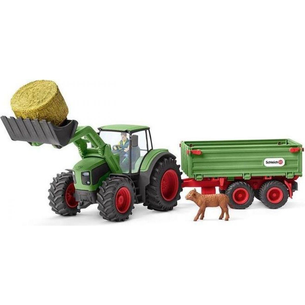 Schleich 42379 Traktor s vlekem - Poškozený obal