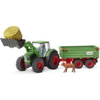 Schleich 42379 Traktor s vlekom