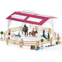 Schleich 42389 Jazdecká škola s jazdcami na koňoch