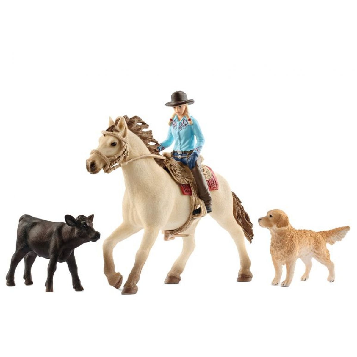 Schleich 42419 set westernová jazdkyne so zvieratkami