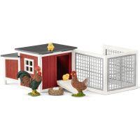Schleich Set kurník so zvieratkami a príslušenstvom 42421