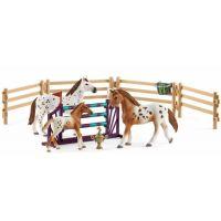 288293877 Schleich Set appalosští koně a tréninkové příslušenstí