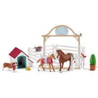 Schleich 42458 Hosťujúce kone, Hannah s fenkou Ruby
