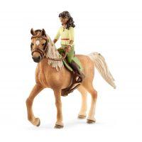 Schleich 42517 Čiernovláska Sarah a kôň Mystery