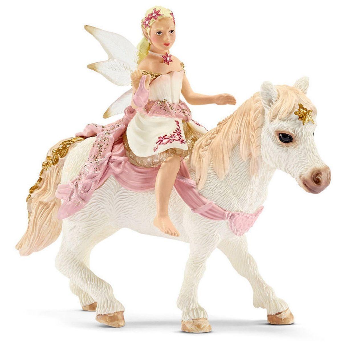 Schleich Krehká elfí víla jazdiaca na poníkovi