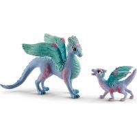 Schleich 70592 Kvetinový drak s mláďaťom