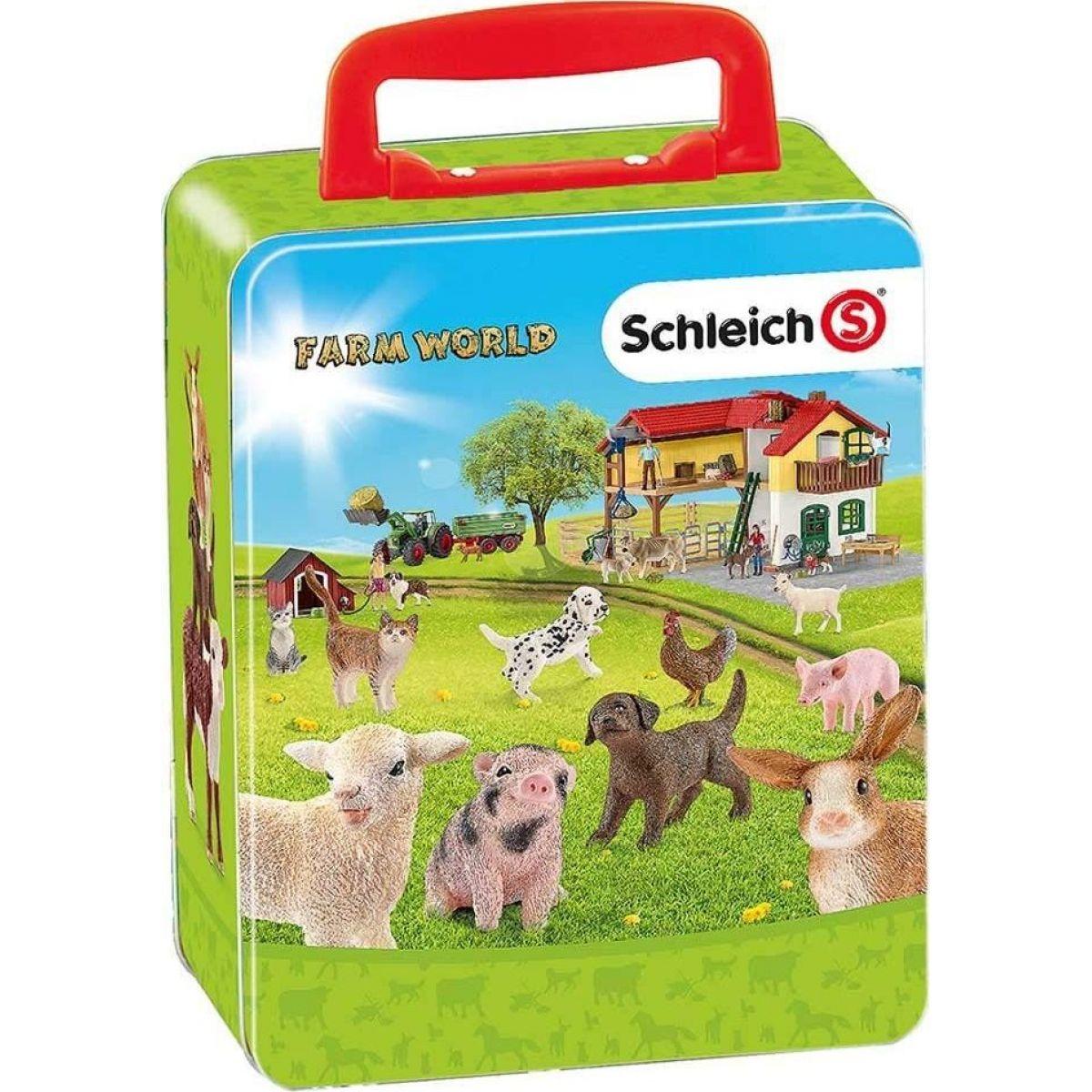 Schleich zberateľský kufrík - zvieratá