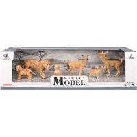 Series Model Svět zvířat rodina tygrů a srnečků, 6 zvířátek