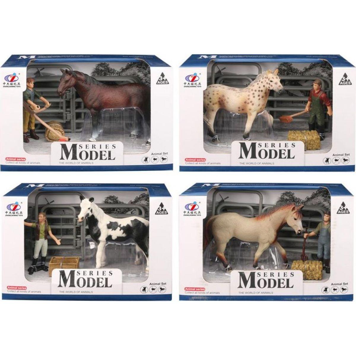 Series Model Svet zvierat sada 1, kôň s figúrkou