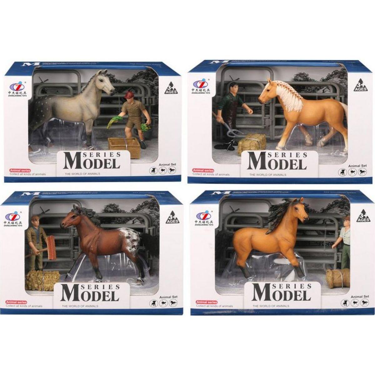 Series Model Svet zvierat sada 2, kôň s figúrkou