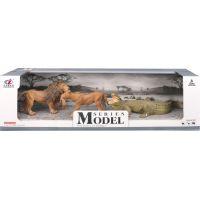 Series Model Svět zvířat sada lev, lvice a krokodýl