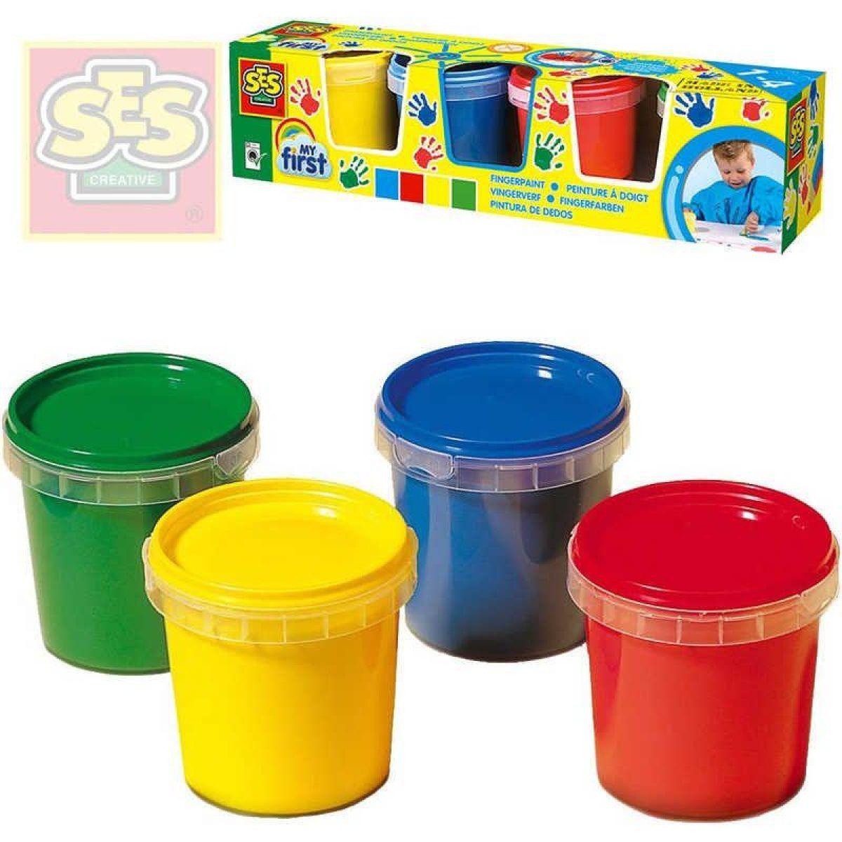 SES Moja prvá prstové farby 4 x 150 ml