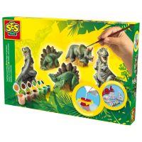 SES Creative Sádrový trojkomplet dinosaury