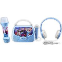 Set Frozen so slúchadlami, baterkou a karaoke boxom