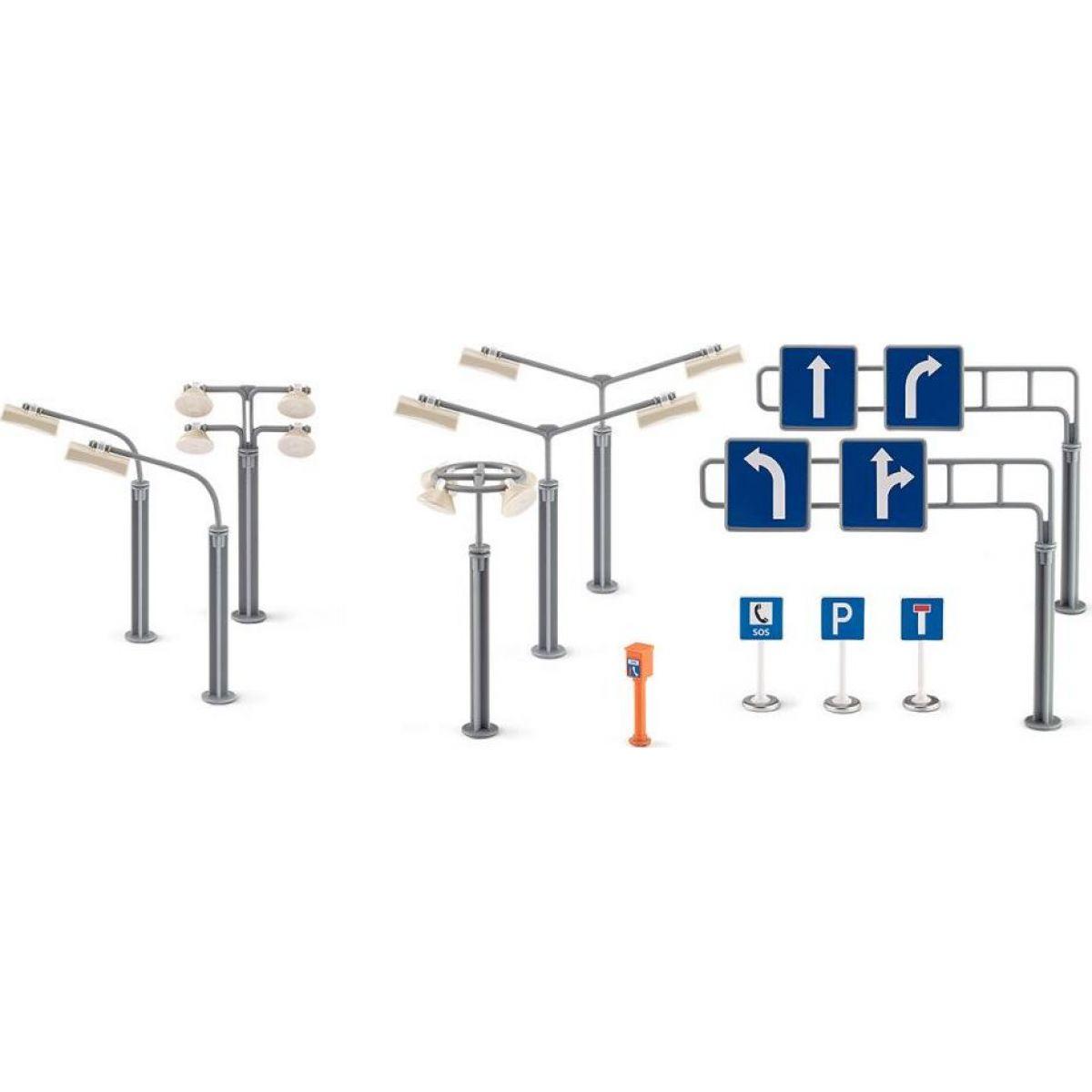 Siku 5594 Dopravné značky a pouličné lampy