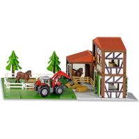Siku 5609 Stajňa s koňmi a traktorom