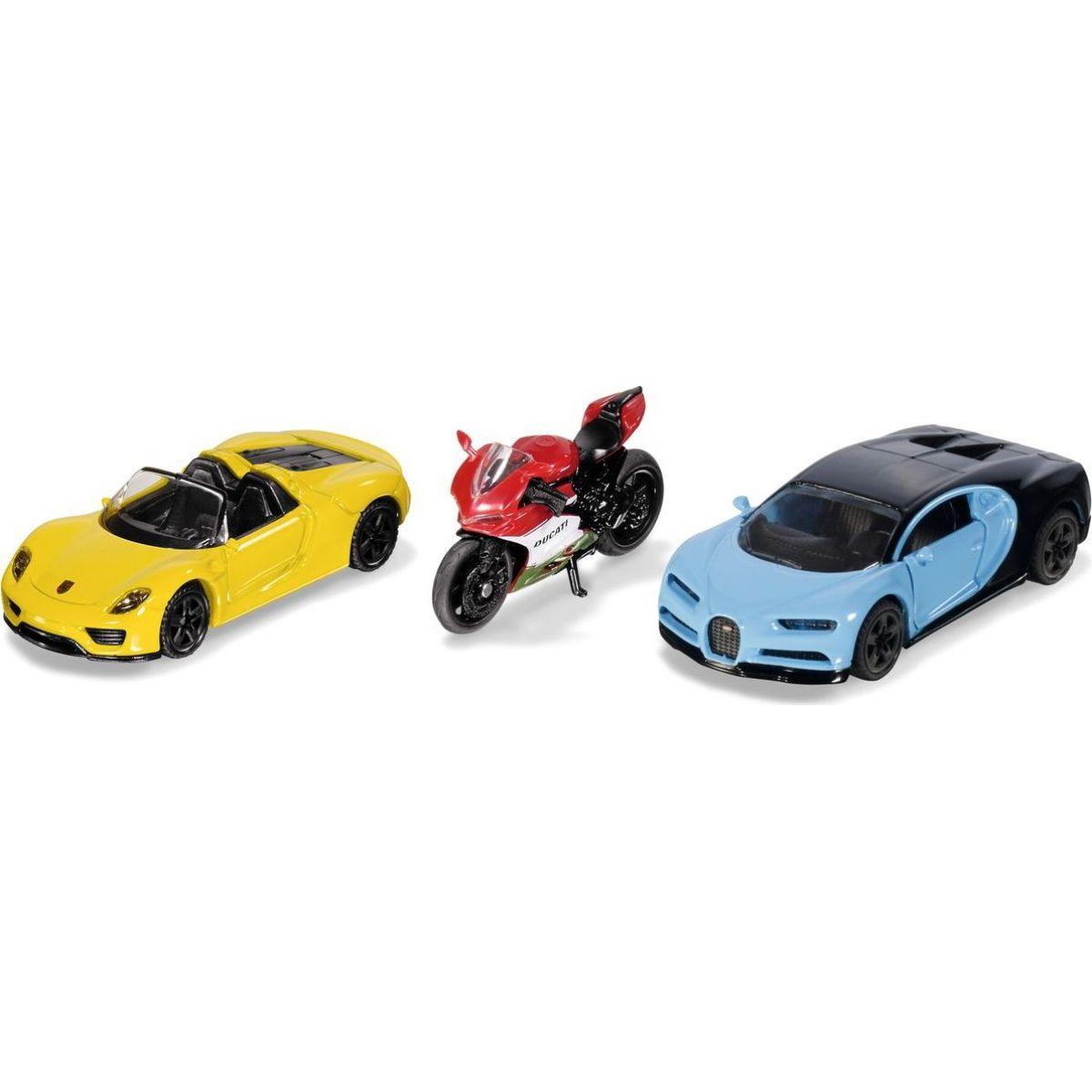 Siku 6313  set 2 športových áut a motorka