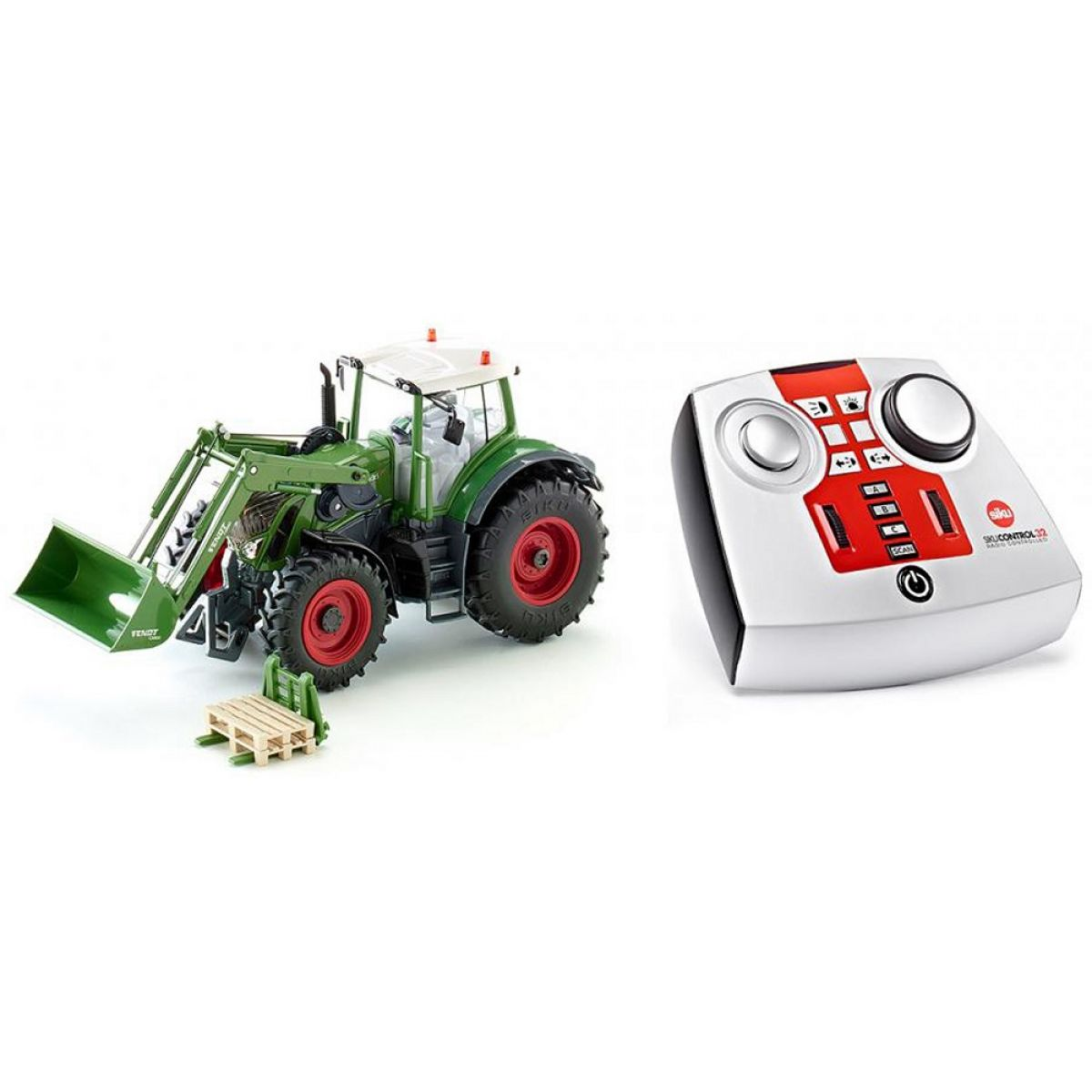 SIKU Control Traktor Fendt Vario s předním nakladačem