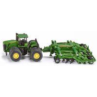 Siku Farmer Traktor John Deere 9630 s bránami Amazone Centaur 1:87