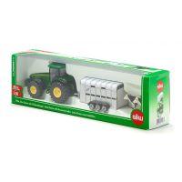 Siku Super Traktor John Deere s přívěsem pro přepravu dobytka vč. 2 krav 1:50 5
