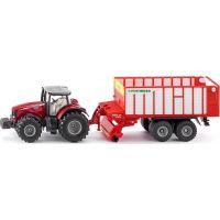 SIKU Farmer traktor Massey FErguson s Jumbo přívěsem 1:50