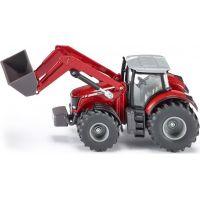 Siku Farmer Traktor Massey Ferguson s předním nakladačem 1:50