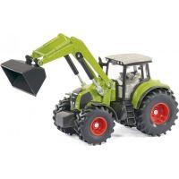 SIKU Traktor s p červená ným nakladačom a prívesom 1:50 3