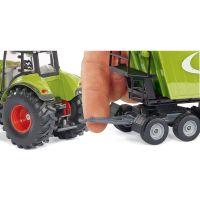 SIKU Traktor s p červená ným nakladačom a prívesom 1:50 5