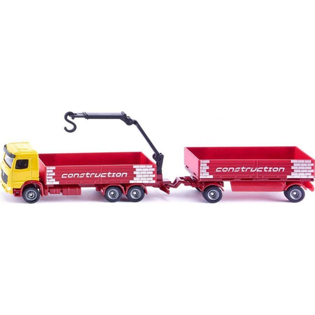 Siku Super Kamion na přepravu stavebních materiálů s přívěsem 1:87