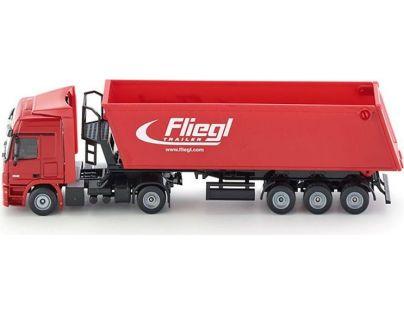 SIKU Kamión s vyklápacím vlekom červený 1:50
