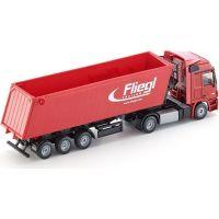 SIKU Kamión s vyklápacím vlekom červený 1:50 4
