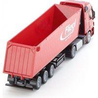SIKU Kamión s vyklápacím vlekom červený 1:50 6