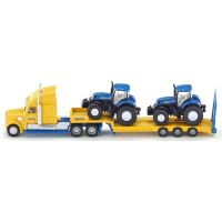 SIKU 1805 Super Tahač s vlekem a 2 traktory New Holland 1:87