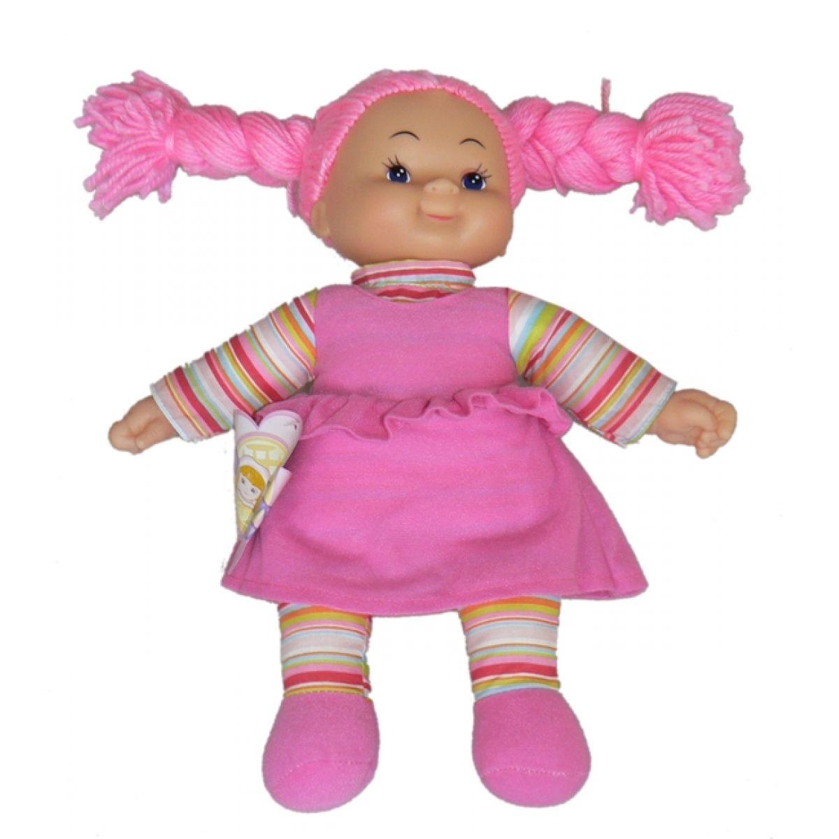 Simba Látková panenka Cheeky 38cm Vlasy růžové zapletené
