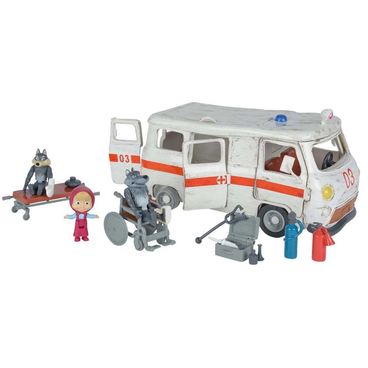 Simba Máša a medveď Ambulancia hrací set