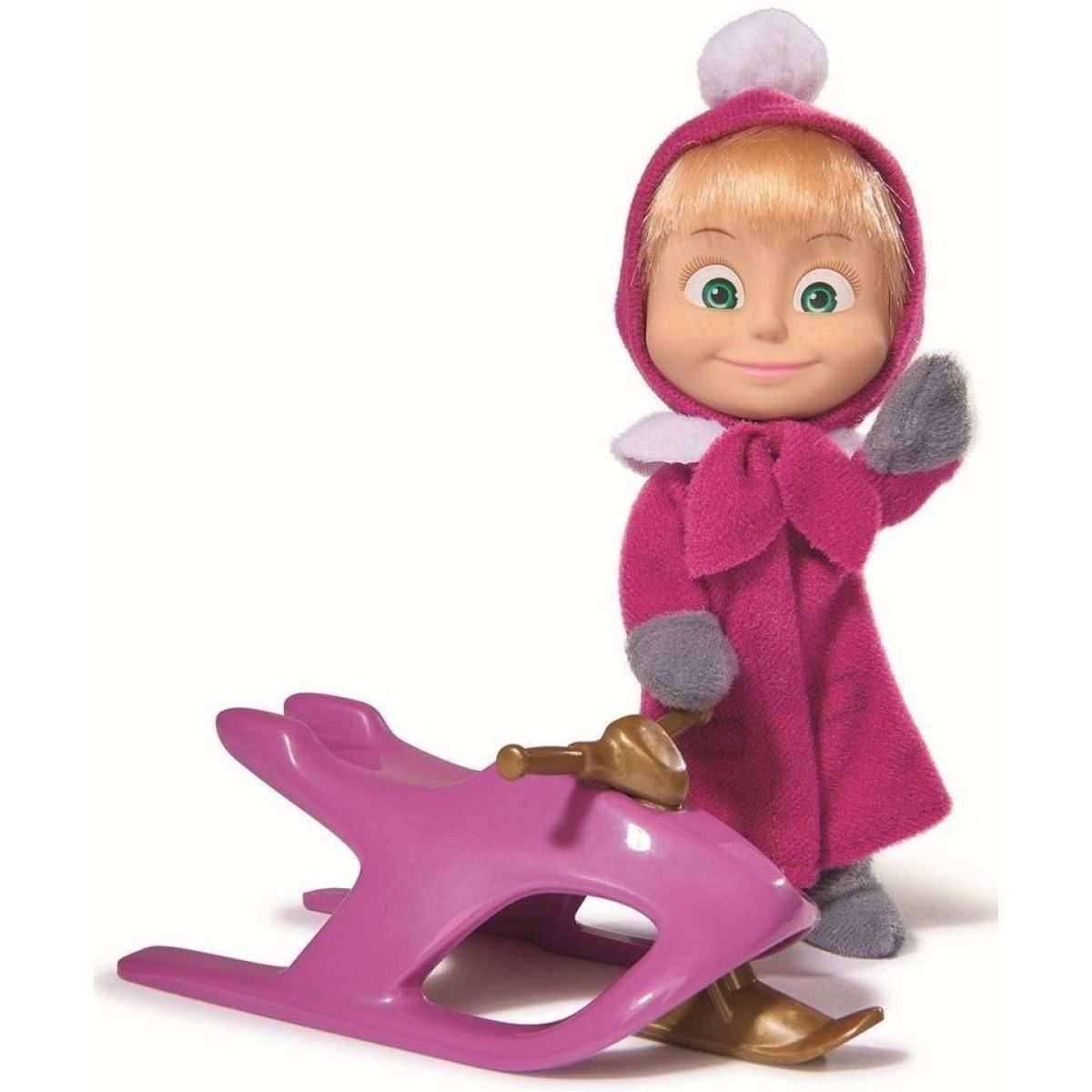 S-Simba Toys MandB Bábika Máša a snežný skúter