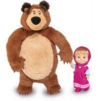Simba Máša a medveď Set Míša plyšový 25 cm a bábika Máša 12 cm
