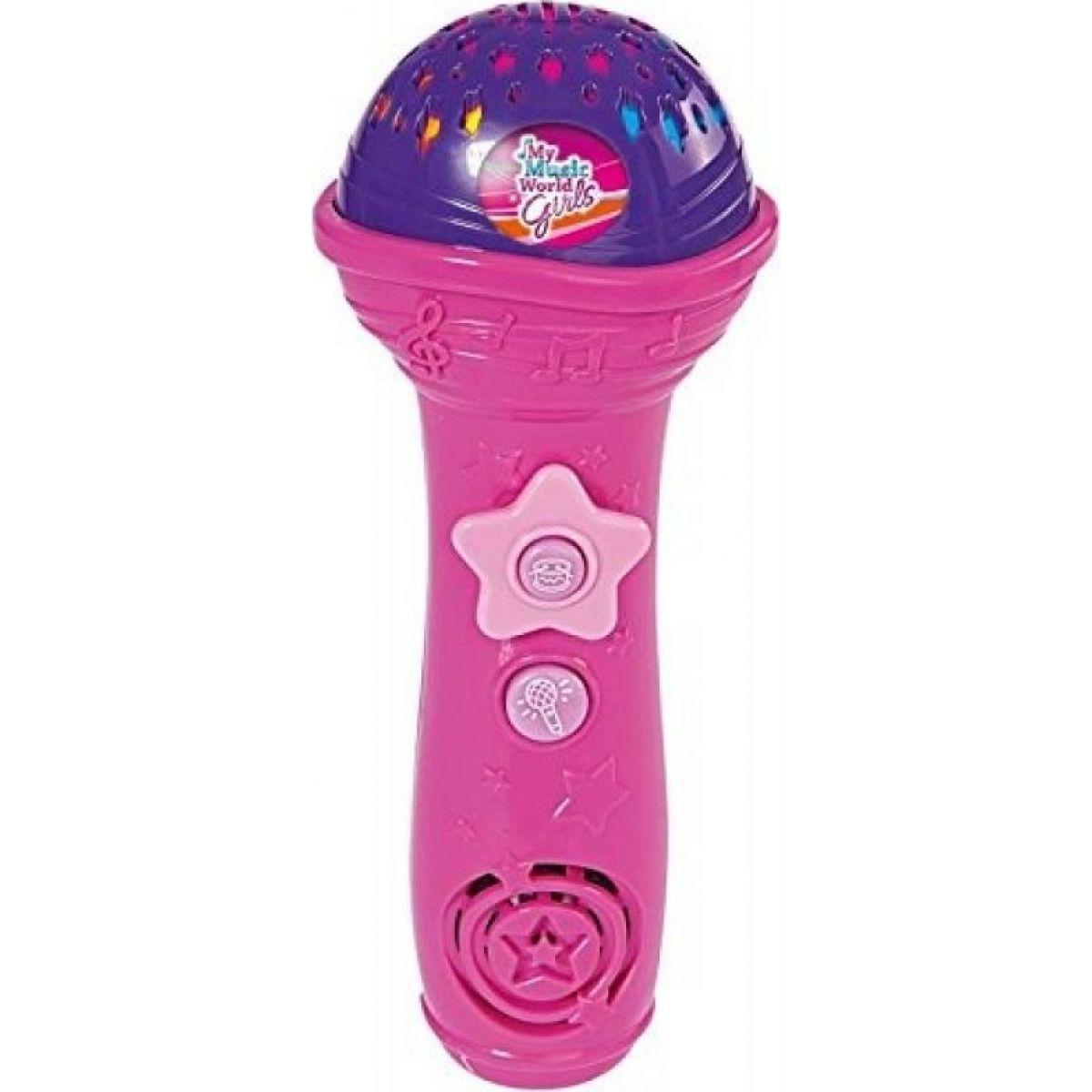 Simba My Music World Růžový mikrofon se stojanem pro MP3