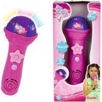 Simba My Music World Růžový mikrofon se stojanem pro MP3 2