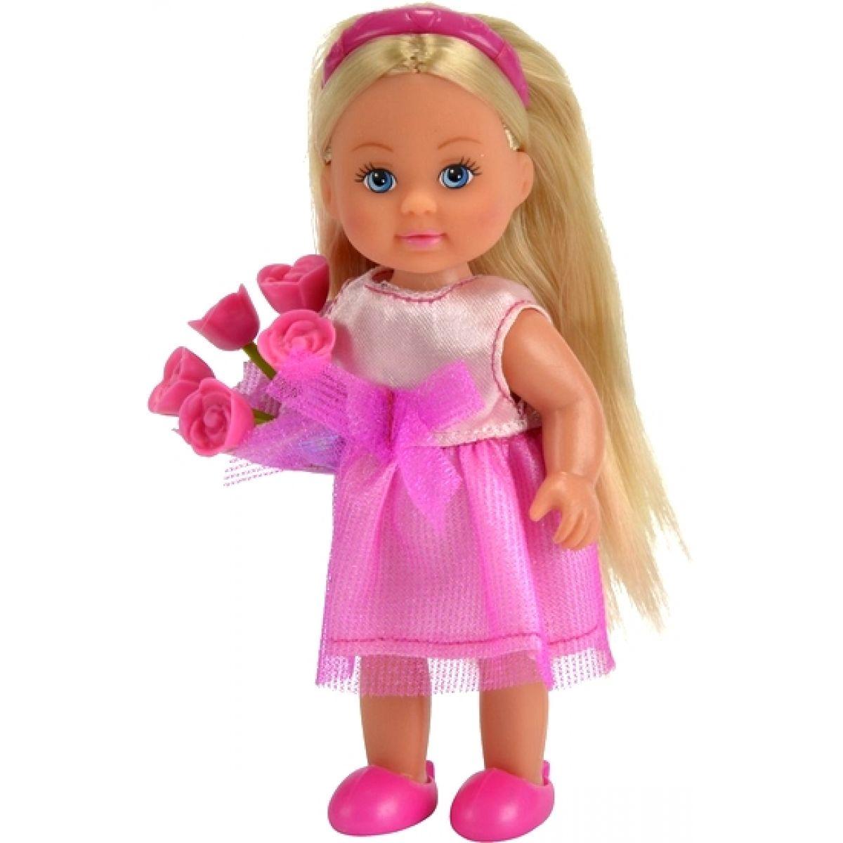Simba Panenka Evička družička Růžové šaty