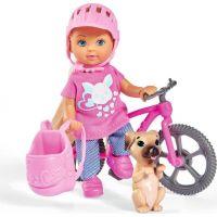 Bábika Evička s bicyklom 2